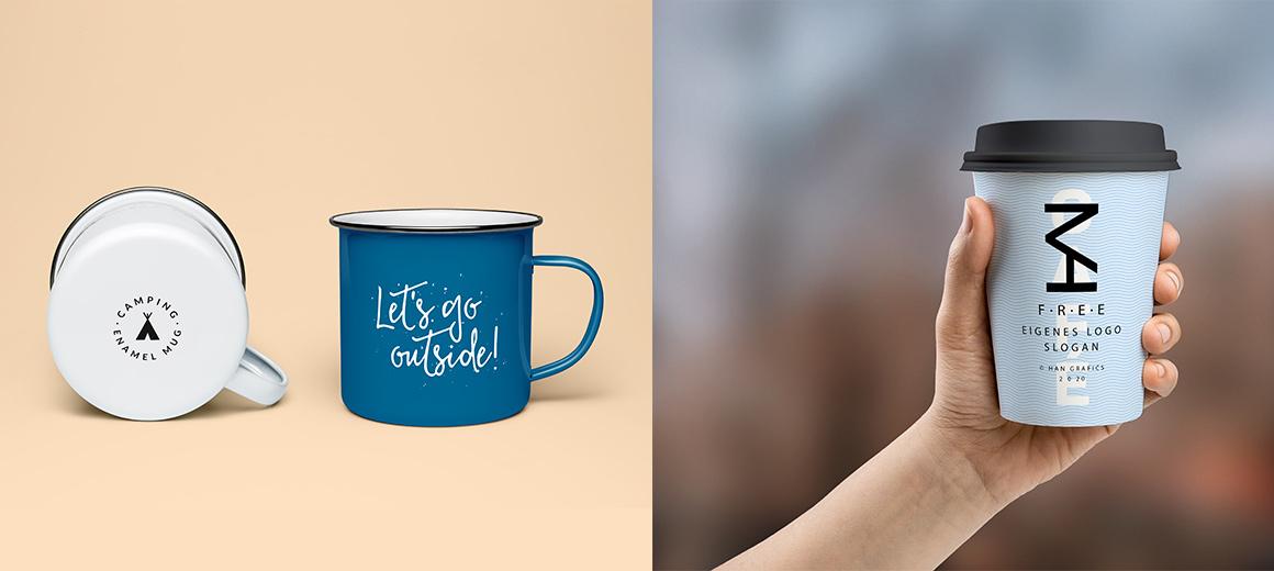 Kaffeebecher mit Druck