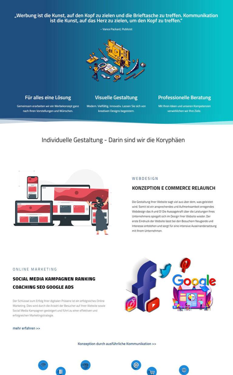Titelbild Webgestaltung